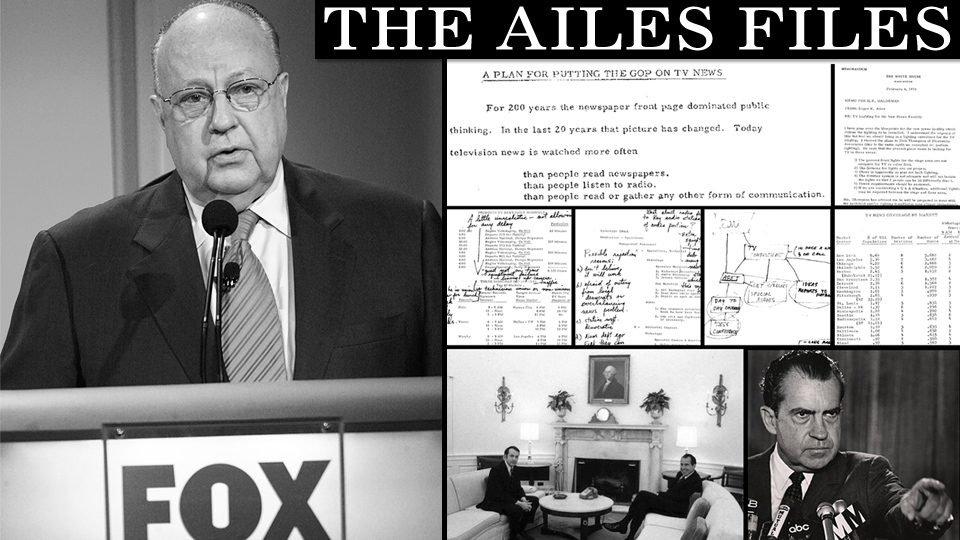 "Credit: Gawker, ""Roger Ailes' Secret Nixon-Era Blueprint for Fox News"""